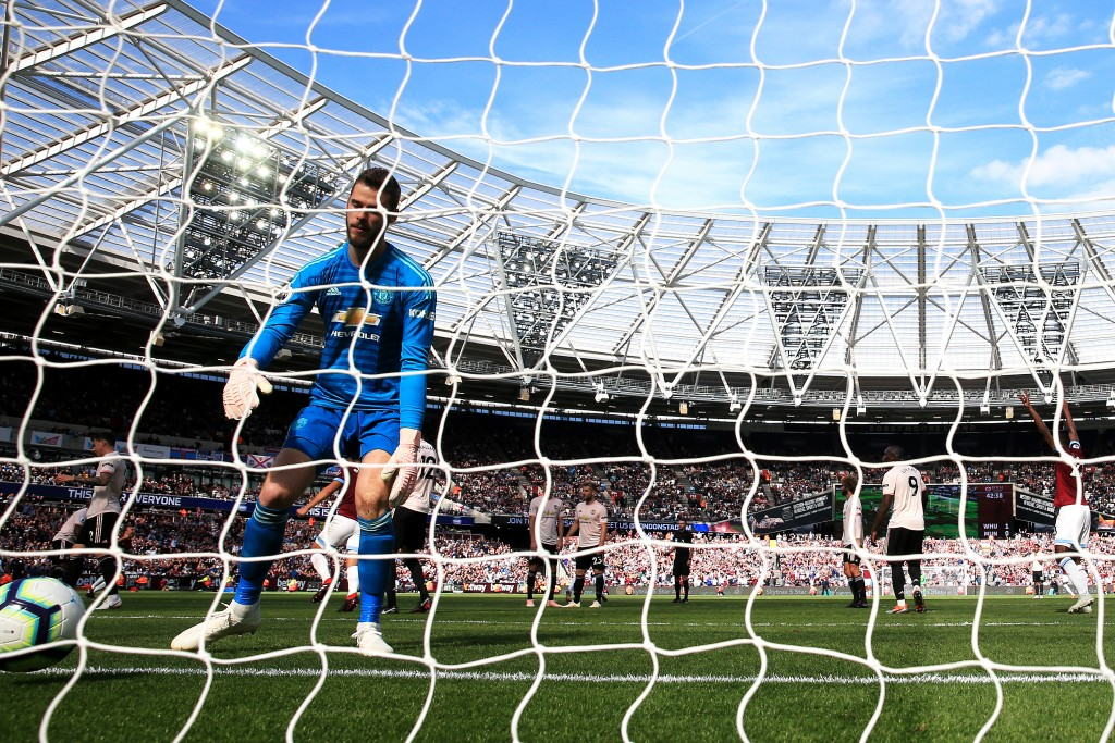 It has been a tough start to the season for De Gea and Manchester United. (Photo by Marc Atkins/Getty Images)