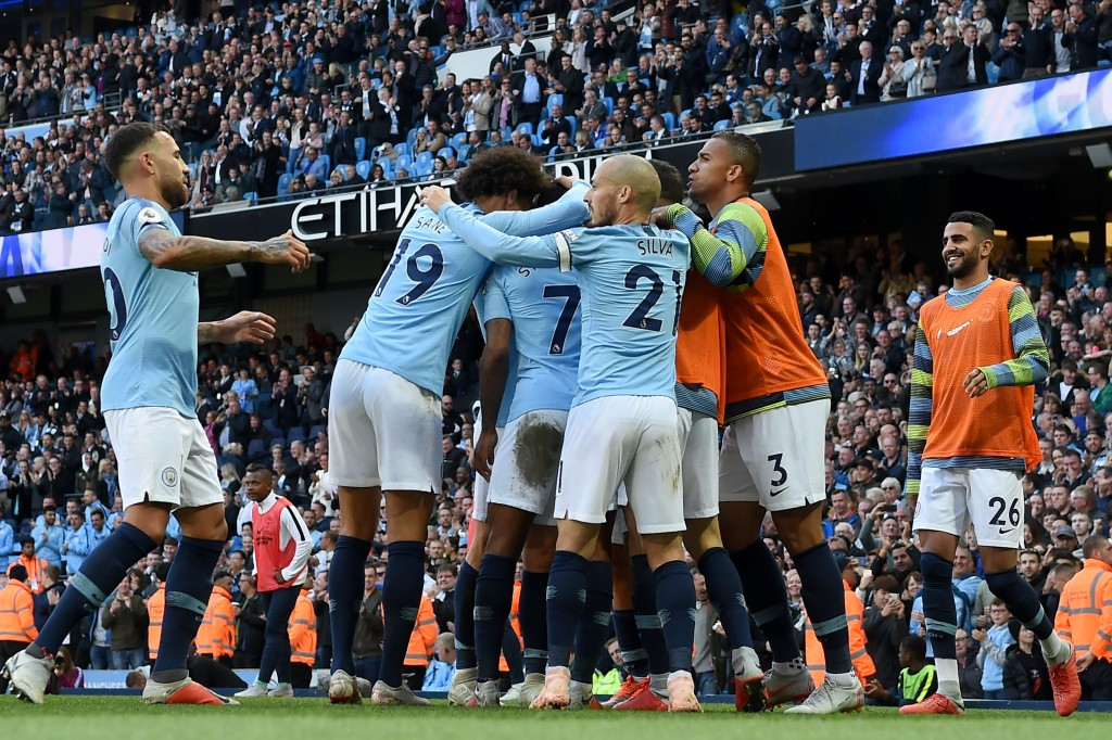 Manchester City have returned to the top of the table, but the competition this time is much more fierce. (Photo by Paul Ellis/AFP/Getty Images)