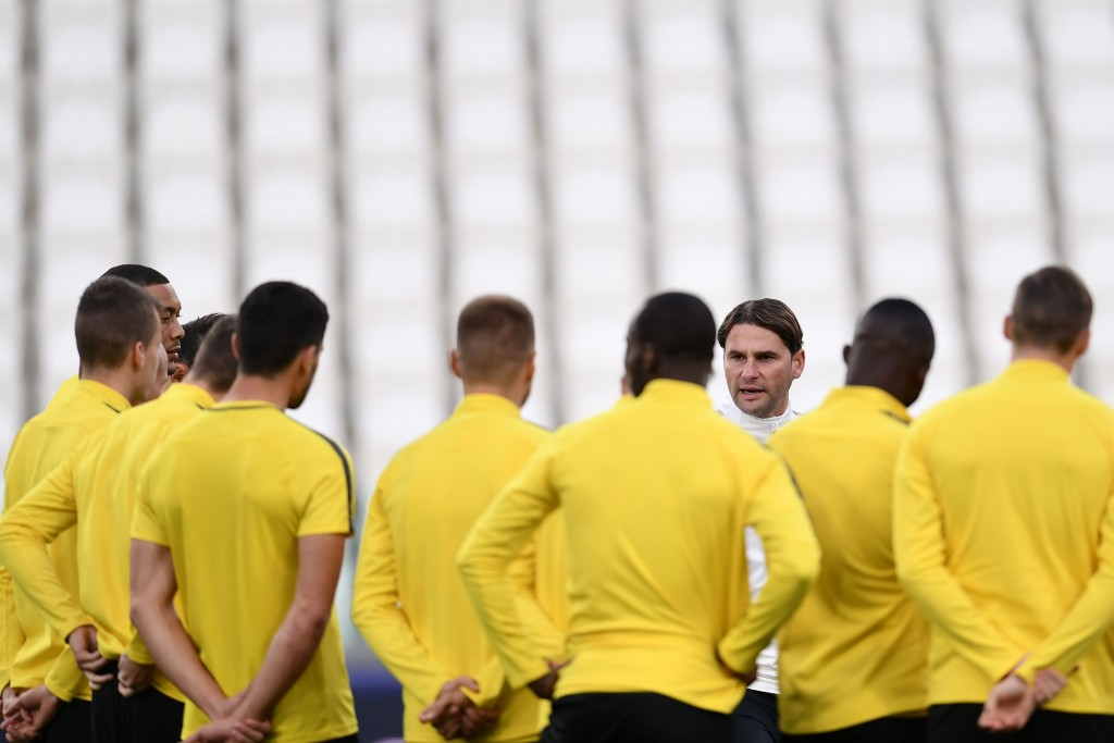 Gerardo Seoane rallying his troops for the challenge that beckons. (Photo courtesy - Marco Bertorello/AFP/Getty Images)