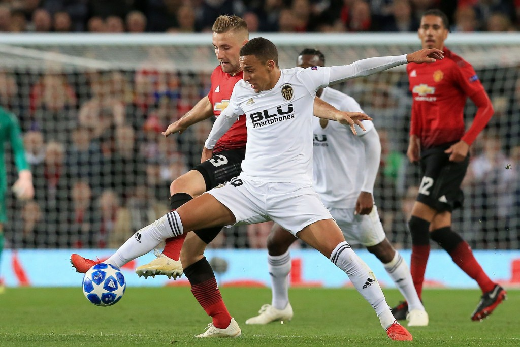 Shaw (L) and Smalling (R) had a solid game (Photo by LINDSEY PARNABY/AFP/Getty Images)