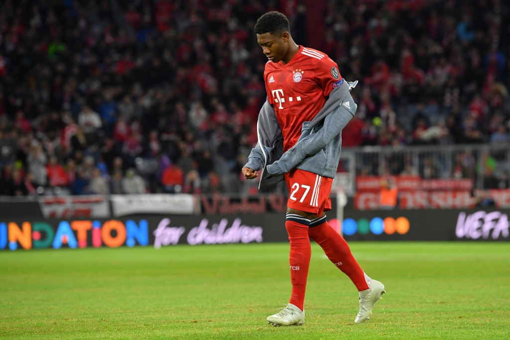 Alaba is set to leave Bayern Munich soon. (Photo by Sebastian Widmann/Bongarts/Getty Images)
