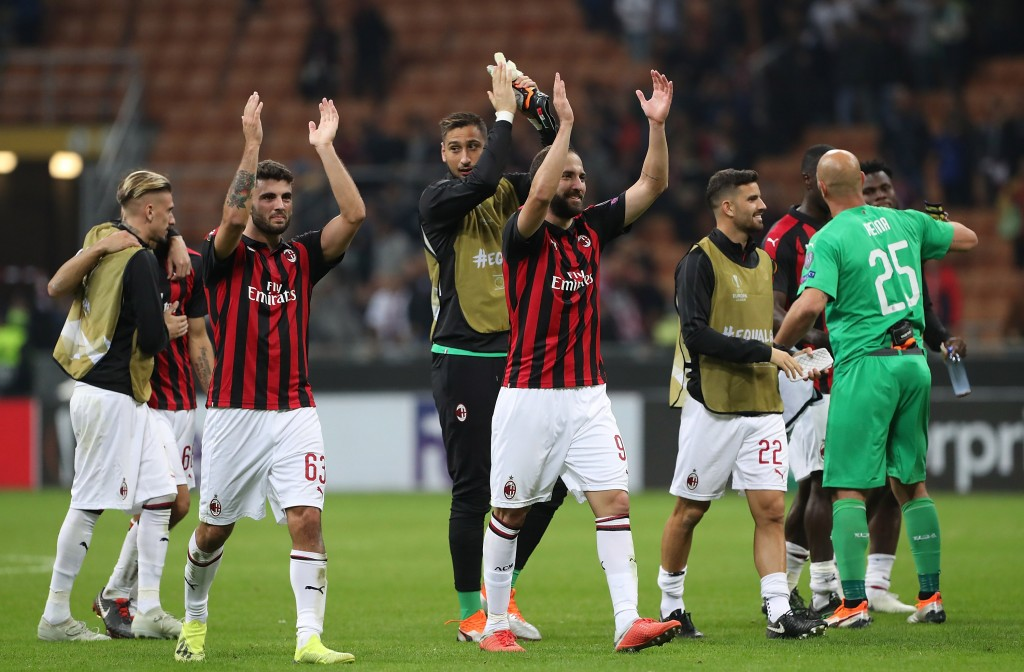 AC Milan have been in their elements in the UEFA Europa League. (Photo by Marco Luzzani/Getty Images)