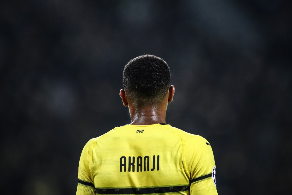 DORTMUND, GERMANY - OCTOBER 03: Manuel Akanji #16 of Borussia Dortmund looks on during the Group A match of the UEFA Champions League between Borussia Dortmund and AS Monaco at Signal Iduna Park on October 3, 2018 in Dortmund, Germany. (Photo by Maja Hitij/Bongarts/Getty Images,)