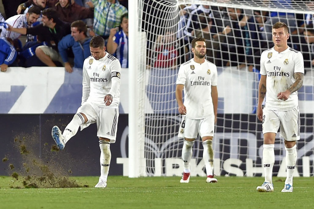 Real Madrid must find a way to get out of their rut. (Photo by Ander Gillenea/AFP/Getty Images)