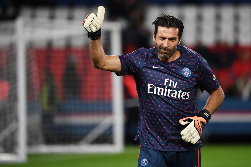 Buffon is poised to make his first Champions League appearance for PSG. (Photo by Franck Fife/AFP/Getty Images)