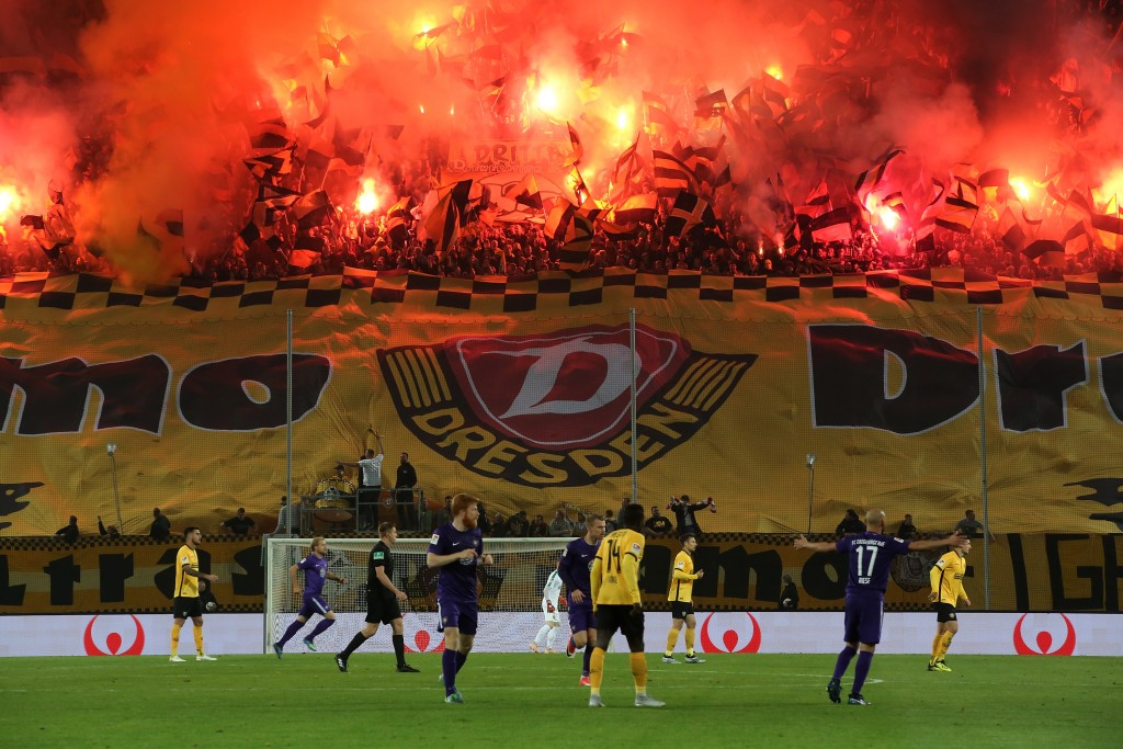 Rodinghausen pulled off a huge upset against Dresden in the last round. (Photo by Matthias Kern/Bongarts/Getty Images)