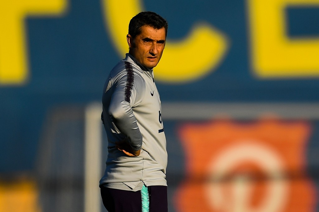 Ernesto Valverde is expected to make a series of changes this week. (Photo by David Ramos/Getty Images)
