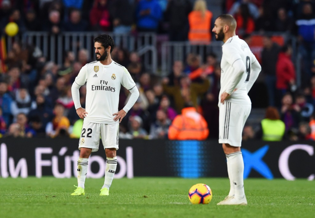 Isco and Benzema failed to inspire Real Madrid (Photo by Alex Caparros/Getty Images)