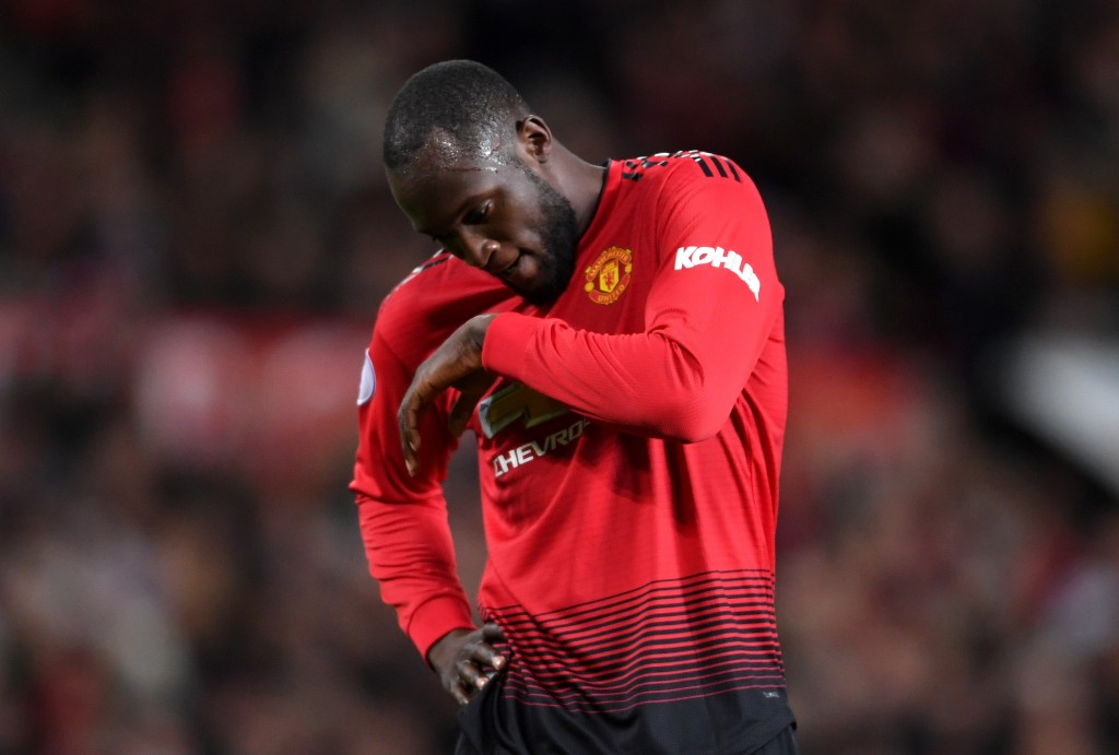 The frustrations continued for Lukaku on Sunday. (Photo by Laurence Griffiths/Getty Images)