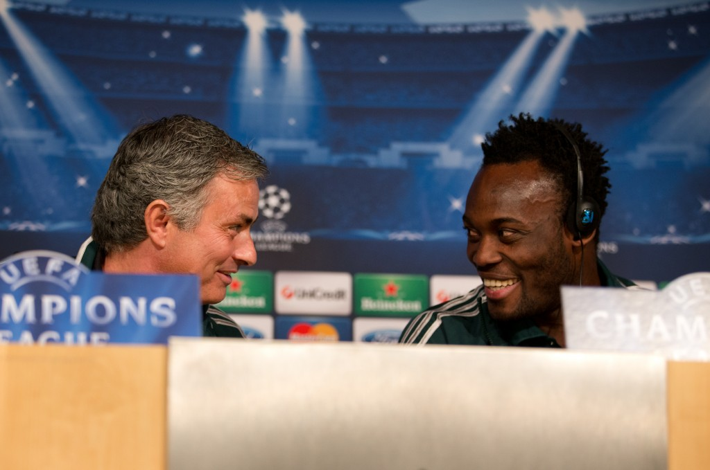 Mourinho and Essien are known to share mutual admiration for each other. (Photo by Jasper Juinen/Getty Images)