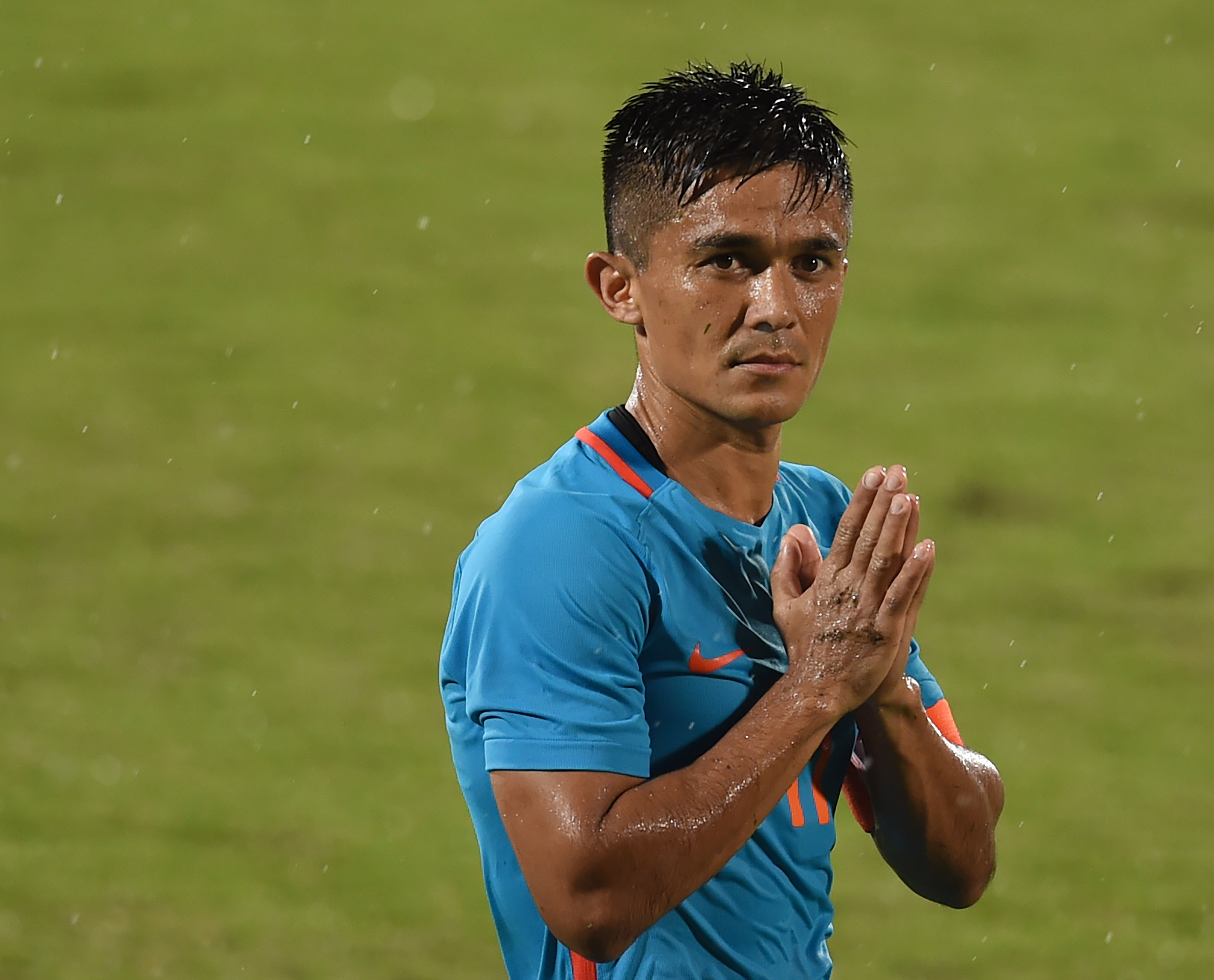 India's Captain Fantastic - Sunil Chhetri (Photo by PUNIT PARANJPE/AFP/Getty Images)