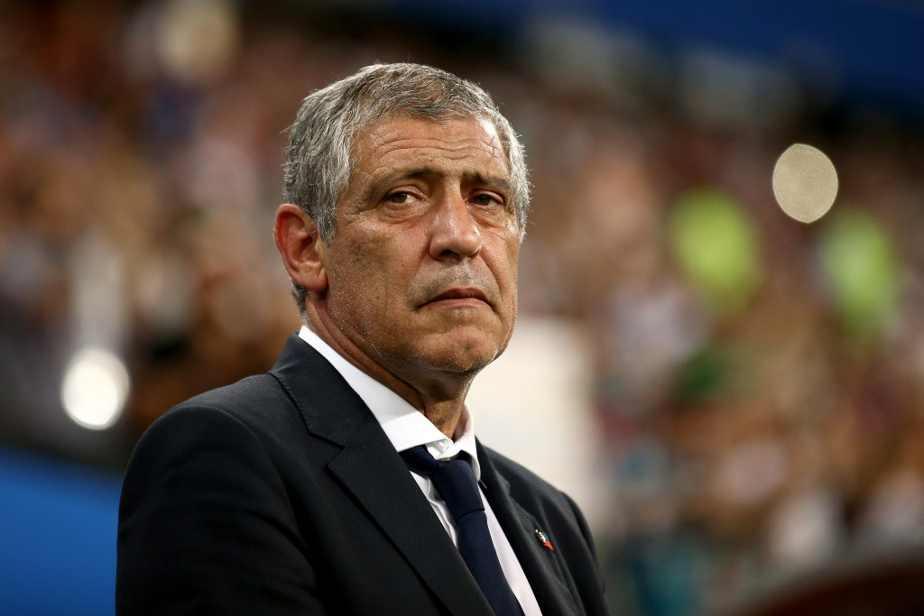 SARANSK, RUSSIA - JUNE 25: Fernando Santos, Head coach of Portugal looks on prior to the 2018 FIFA World Cup Russia group B match between Iran and Portugal at Mordovia Arena on June 25, 2018 in Saransk, Russia. (Photo by Jan Kruger/Getty Images)