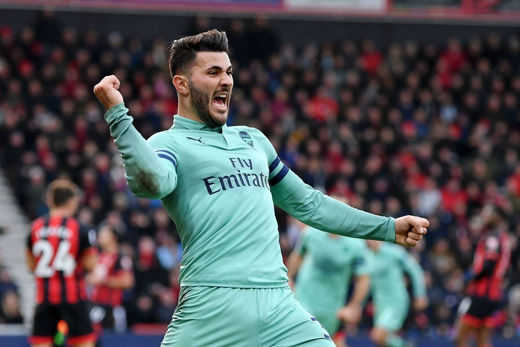 Kolasinac played a crucial role in both goals that Arsenal scored. (Photo by Dan Mullan/Getty Images)