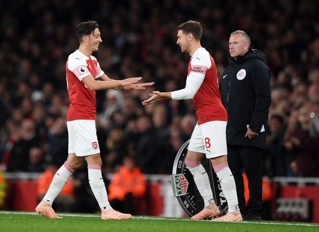 Aaron Ramsey and Mesut Ozil are set to start for Arsenal in the Europa League. (Photo courtesy: AFP/Getty)