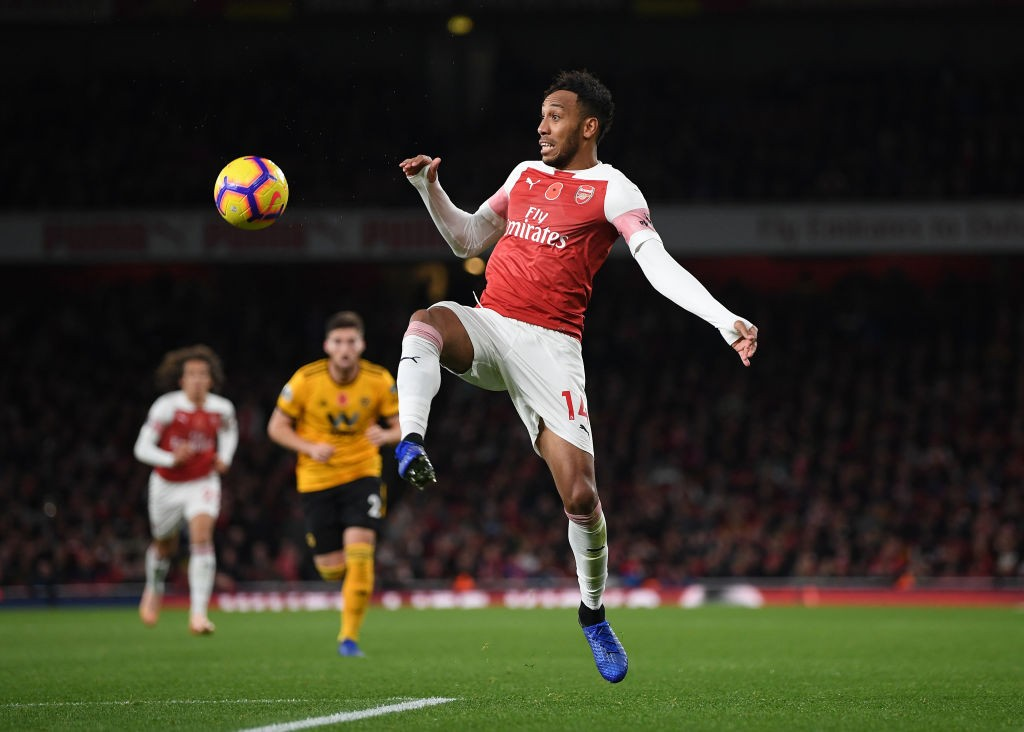 Aubameyang missed a glaring chance to equalise in the first half. (Photo courtesy: AFP/Getty)