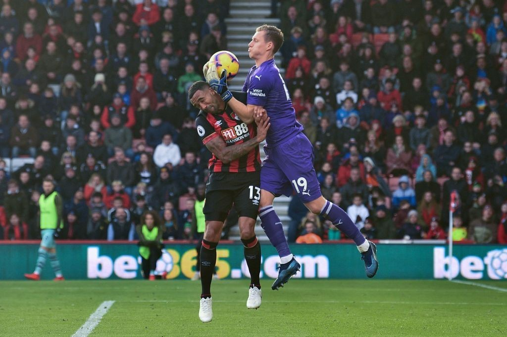 Leno was a commanding figure in between the posts and made some good saves against Bournemouth. (Photo by Glyn Kirk/AFP/Getty Images)