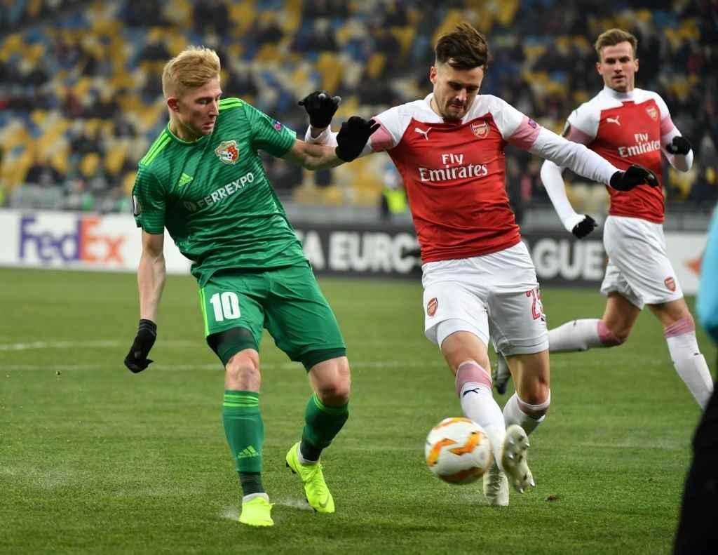 Carl Jenkinson had an excellent game in central defence. (Photo by Sergei Supinsky/AFP/Getty)