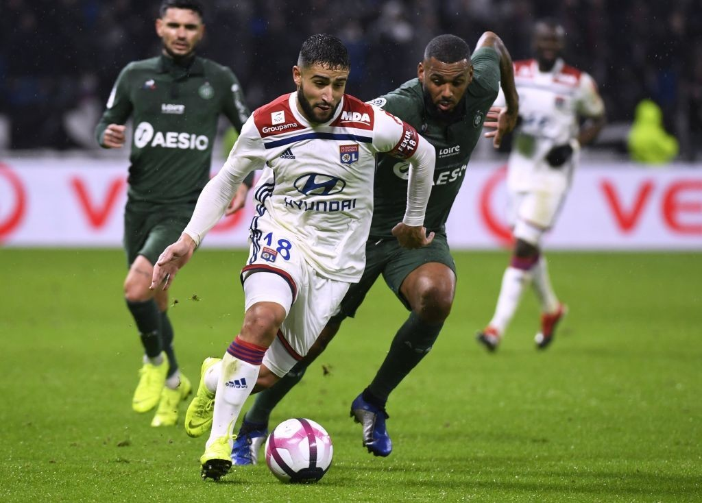 Nabil Fekir gave Lyon an injury scare, but has now declared himself fit for the Man City clash. (Photo by Philippe Desmazes/AFP/Getty Images)