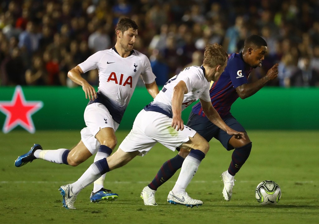 Will Malcom end up joining ranks with Ben Davies & co. at Tottenham? Or will Arsenal come through in their interest? (Photo by Victor Decolongon/Getty Images)
