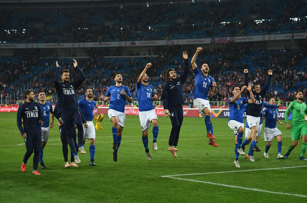 Italy kept their status in the UEFA Nations League A with a win over Poland. (Photo by Claudio Villa/Getty Images)