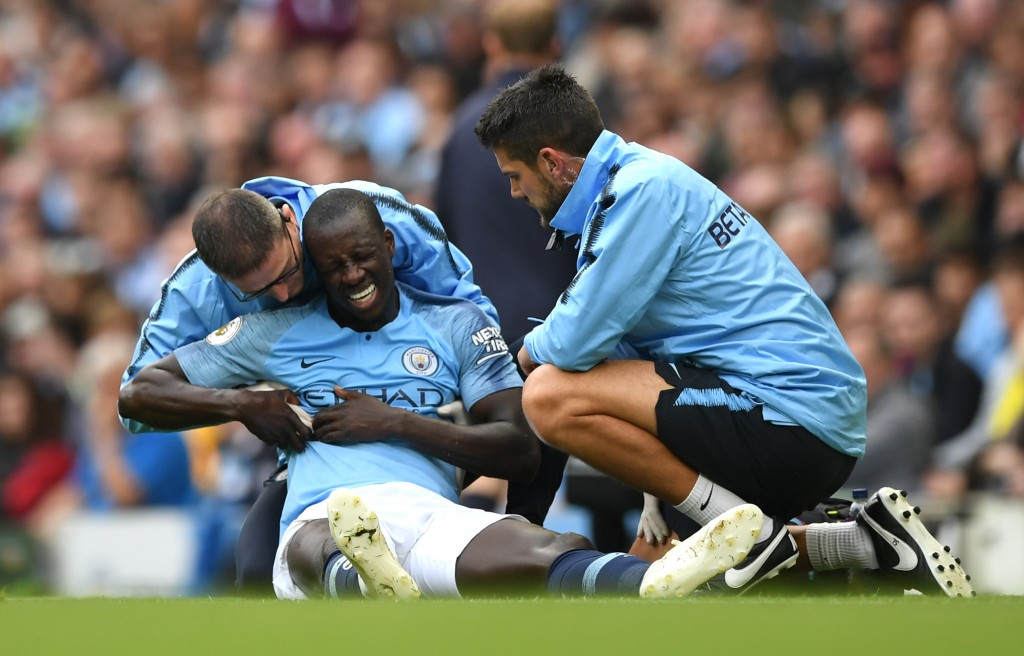 Manchester City have been handed a major blow, with Benjamin Mendy sidelined for three months. (Photo by Shaun Botterill/Getty Images)