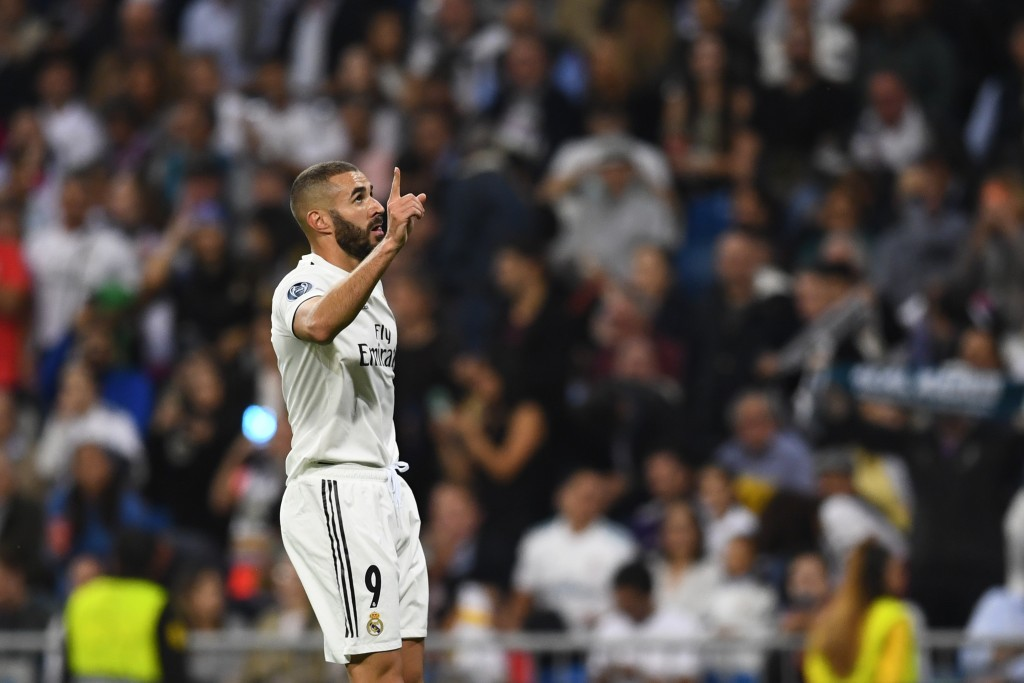 Into the 200 club for Real Madrid. (Photo by Gabriel Bouys/AFP/Getty Images)