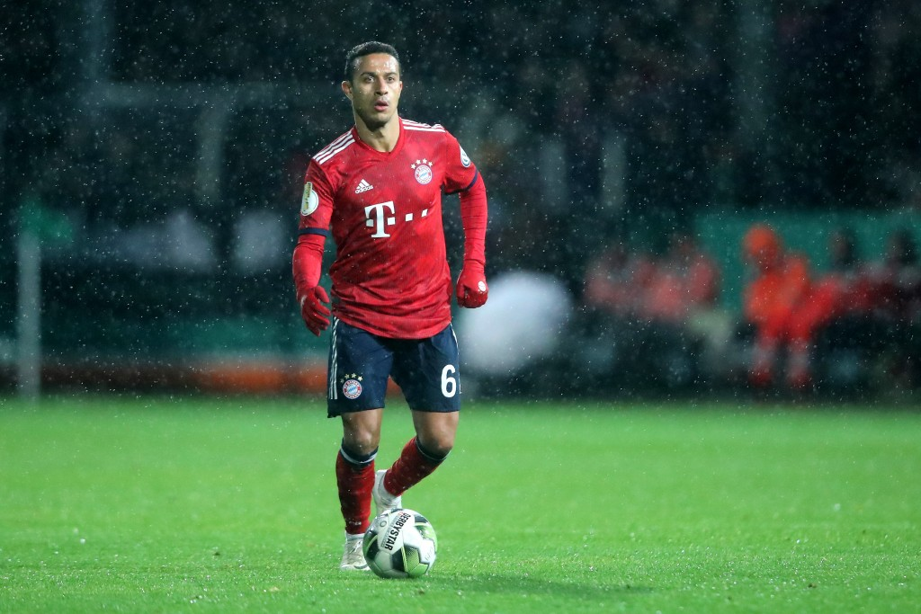 Thiago will play a key role against Freiburg. (Photo by Christof Koepsel/Bongarts/Getty Images)