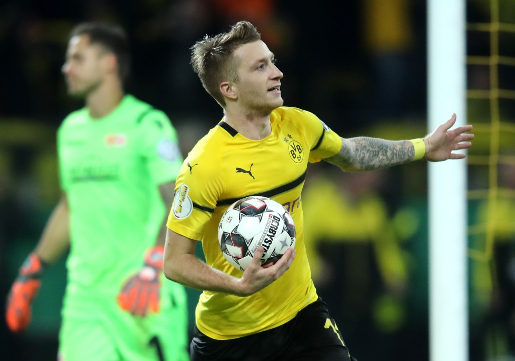 Can Marco Reus spill his magic this weekend? (Photo by Christof Koepsel/Bongarts/Getty Images)