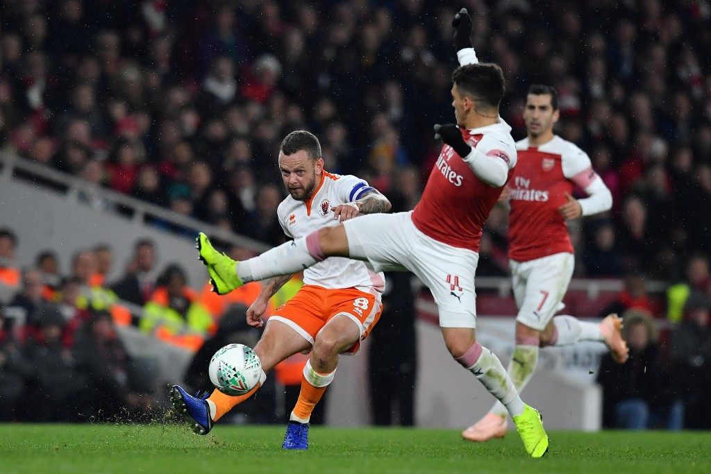 Arsenal's workhorse was solid in his cameo. (Photo by Ben Stansall/AFP/Getty Images)