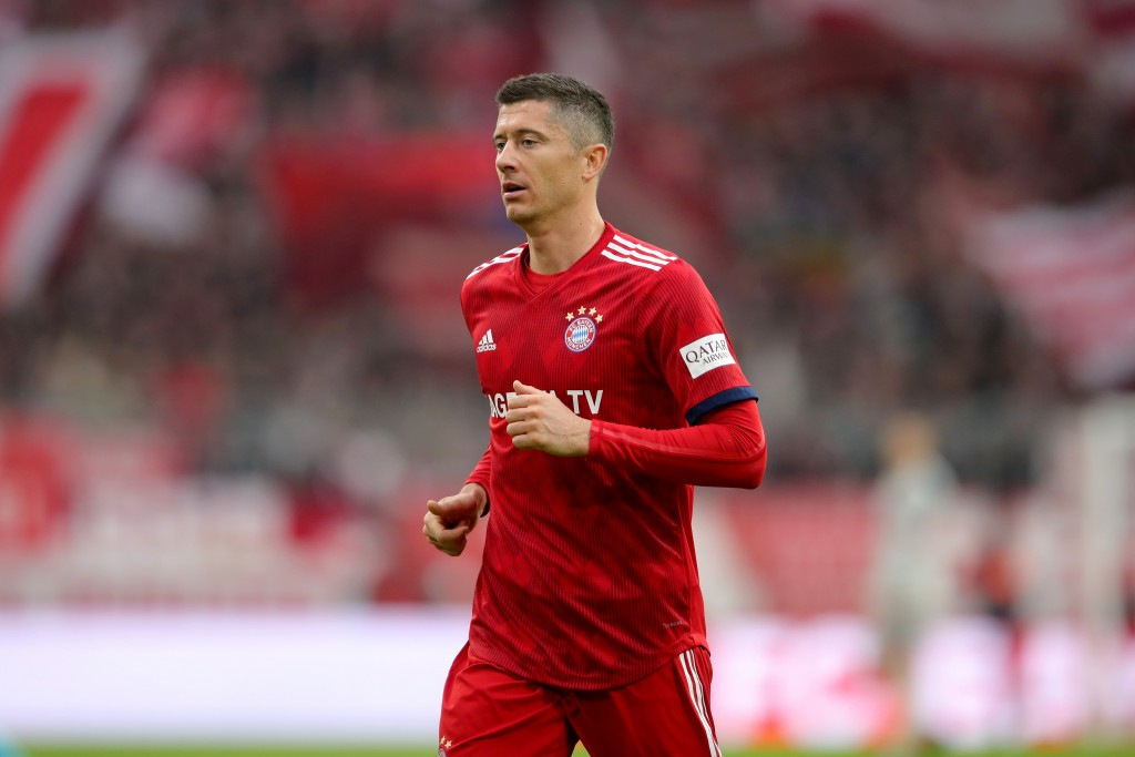 Another frustrating game for Robert Lewandowski. (Photo by Alexander Hassenstein/Bongarts/Getty Images)