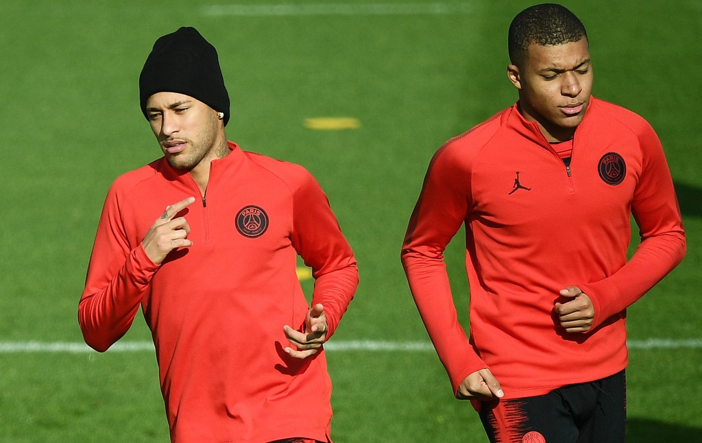 Crucially for PSG, both Neymar and Kylian Mbappe are available. (Photo by Franck Fife/AFP/Getty Images)