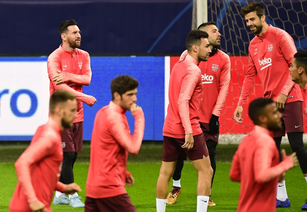 Messi will be itching to return to the group when Real Betis come visiting to Camp Nou. (Photo by Miguel Medina/AFP/Getty Images)