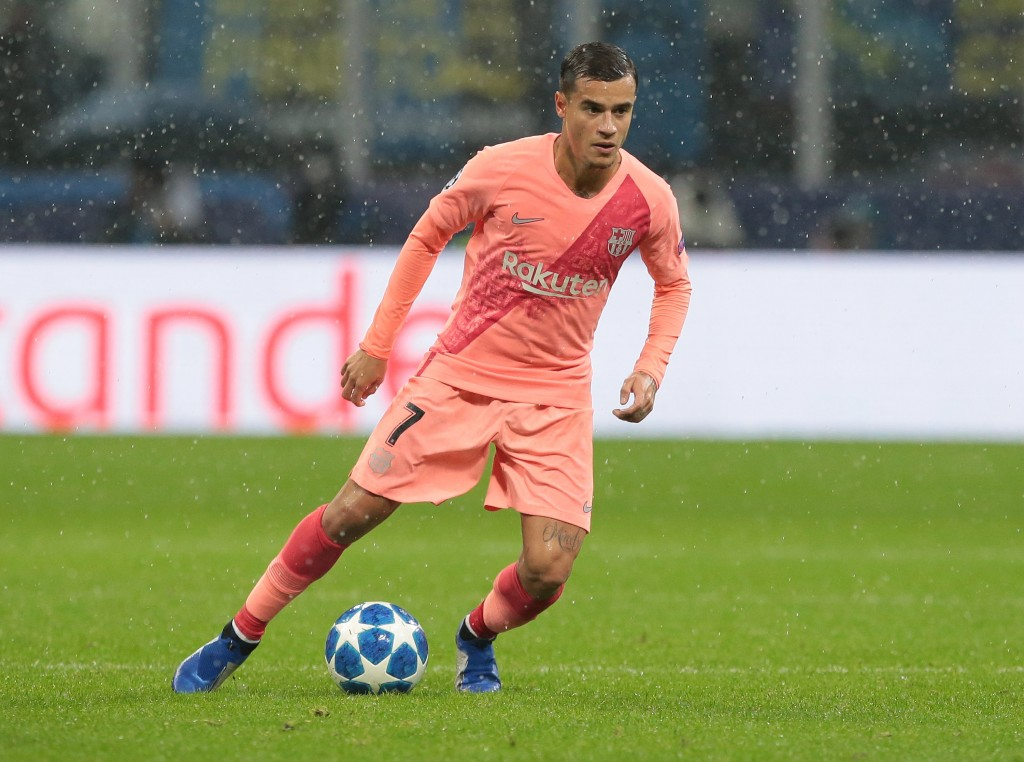 Back where it all began, Coutinho made a telling impact by setting up Barcelona's goal. (Photo by Emilio Andreoli/Getty Images)