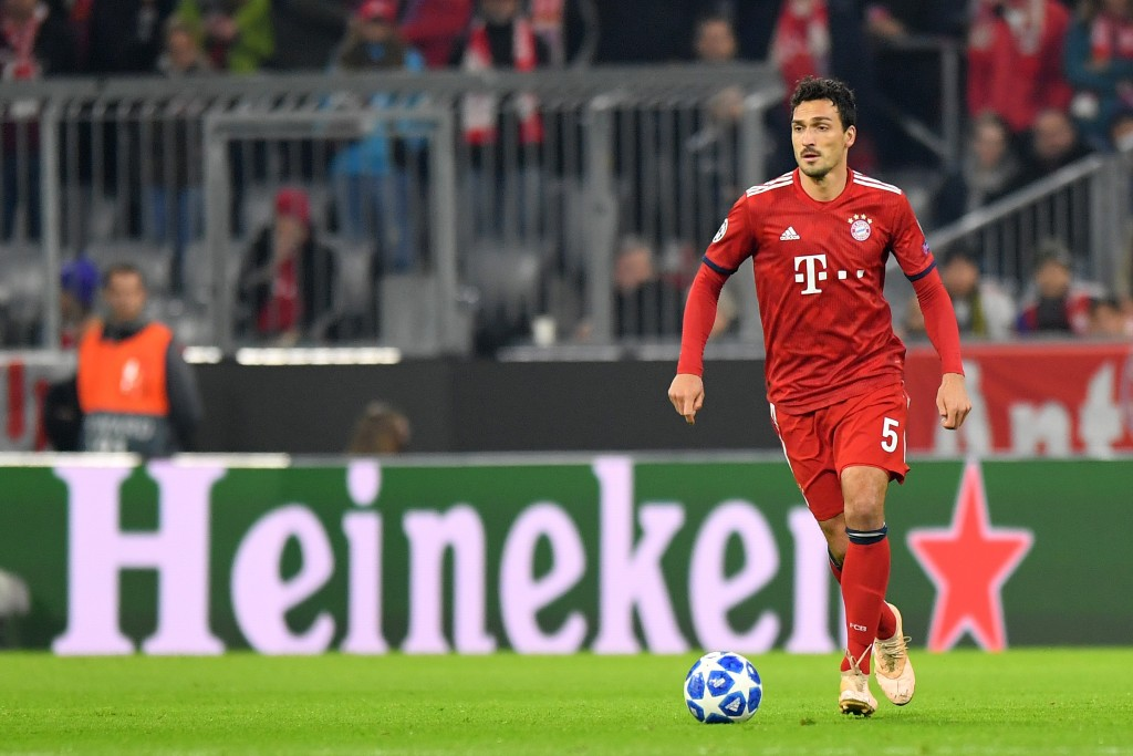 Hummels was key to Bayern's dominance in the first half. (Photo by Sebastian Widmann/Bongarts/Getty Images)