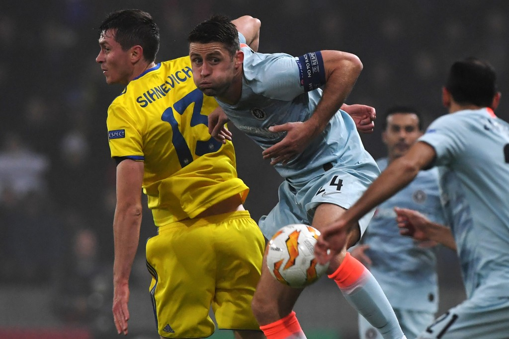 Not a fun night for Cahill. (Picture Courtesy - AFP/Getty Images)