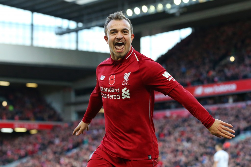 You da man, Xherdan! (Picture Courtesy - AFP/Getty Images)