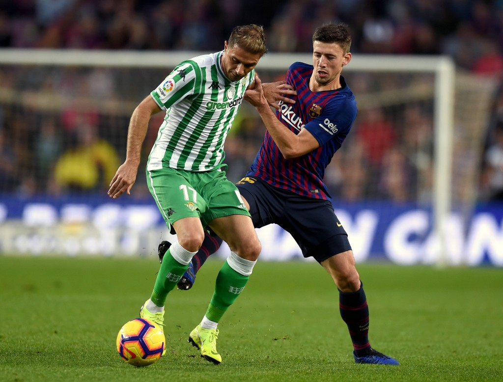 A mixed outing for Lenglet. (Photo by Alex Caparros/Getty Images)