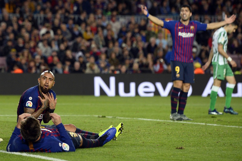 Vidal made a huge impact after coming on at half-time. (Photo by Josep Lago/AFP/Getty Images)