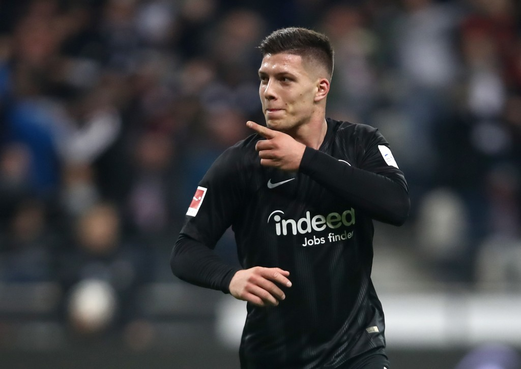 Luka Jovic is leading the scoring charts this season with nine goals. (Photo by Alex Grimm/Bongarts/Getty Images)