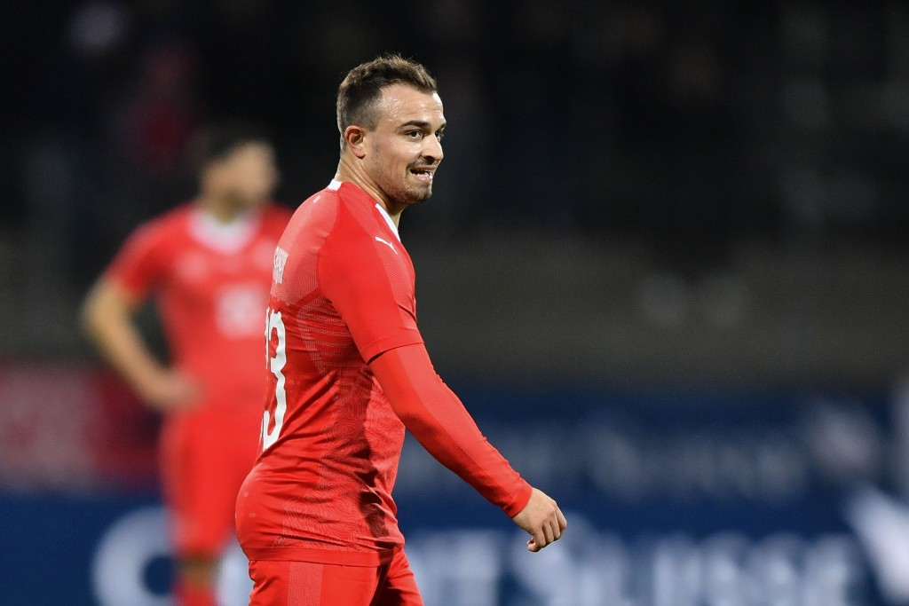 Can Shaqiri lead his side to the UEFA Nations League finals? (Photo by Fabrice Coffrini/AFP/Getty Images)