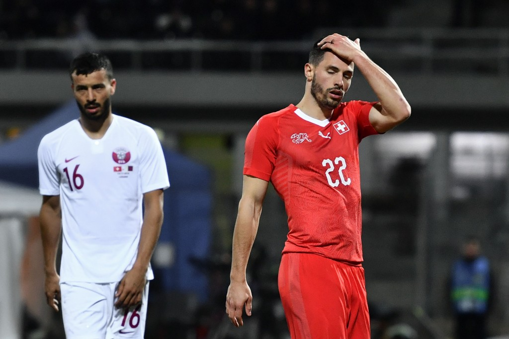 Switzerland were handed a shock 1-0 loss by Qatar in their most recent encounter. (Photo by Fabrice Coffrini/AFP/Getty Images)