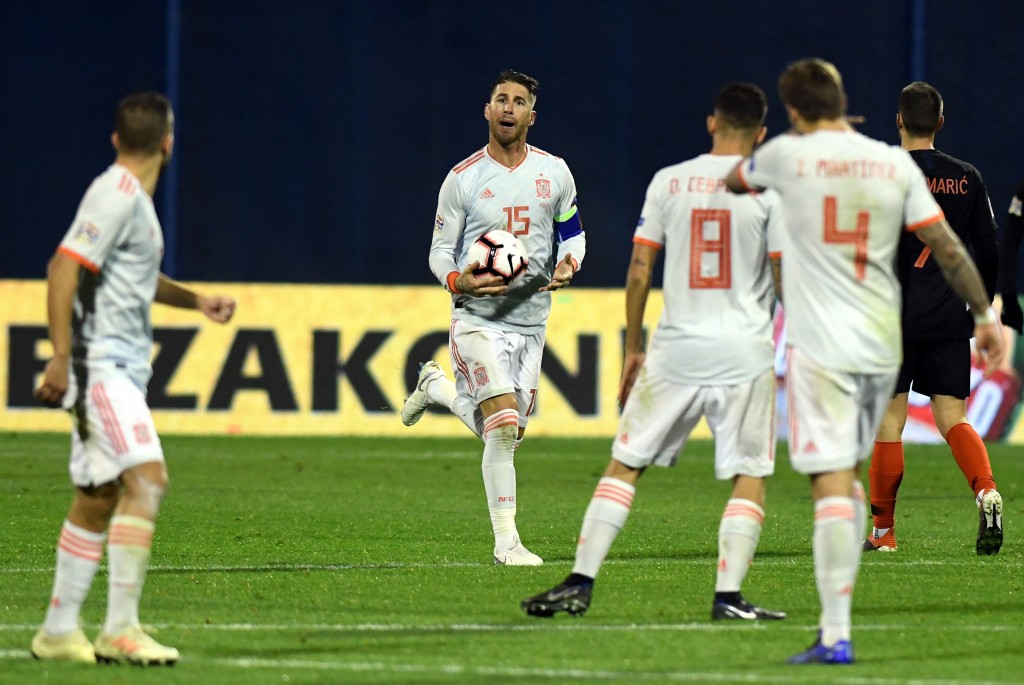 Spain's Nations League campaign ended in defeat. (Photo courtesy - AFP/Getty Images)