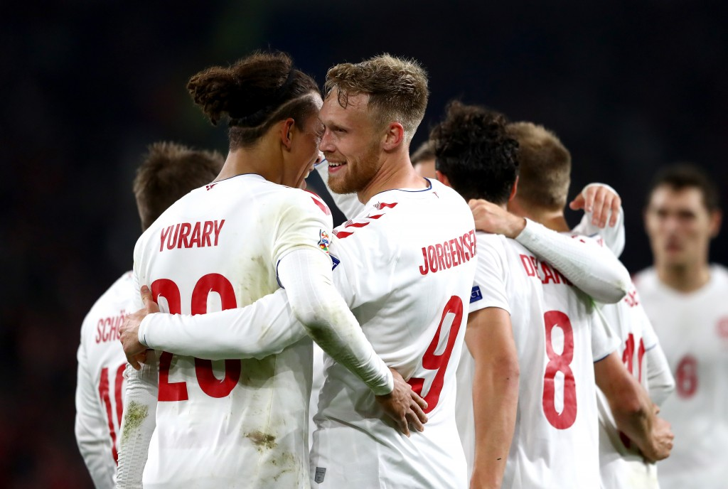 Denmark secured promotion to UEFA Nations League A with a win over Wales. (Photo by Michael Steele/Getty Images)