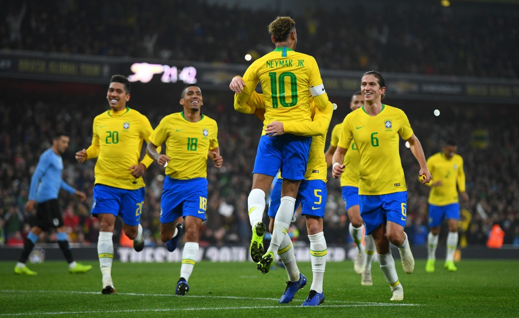 Brazil continued their winning run against Uruguay. (Photo by Mike Hewitt/Getty Images)