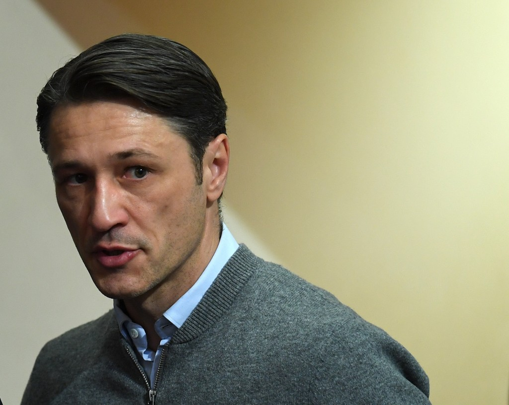 Bayern Munich's Croatian headcoach Niko Kovac arrives for a press conference after the German first division Bundesliga football match FC Bayern Munich vs Fortuna Duesseldorf in Munich, southern Germany, on November 24, 2018. (Photo by Christof STACHE / AFP) (Photo credit should read CHRISTOF STACHE/AFP/Getty Images)