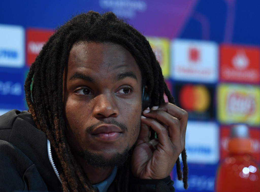 Bayern Munich's Portuguese midfielder Renato Sanches attends the press conference on the eve of the UEFA Champions League Group E football match Bayern Munich vs Benfica Lisbon in Munich, southern Germany, on November 26, 2018. (Photo by Christof STACHE / AFP) (Photo credit should read CHRISTOF STACHE/AFP/Getty Images)