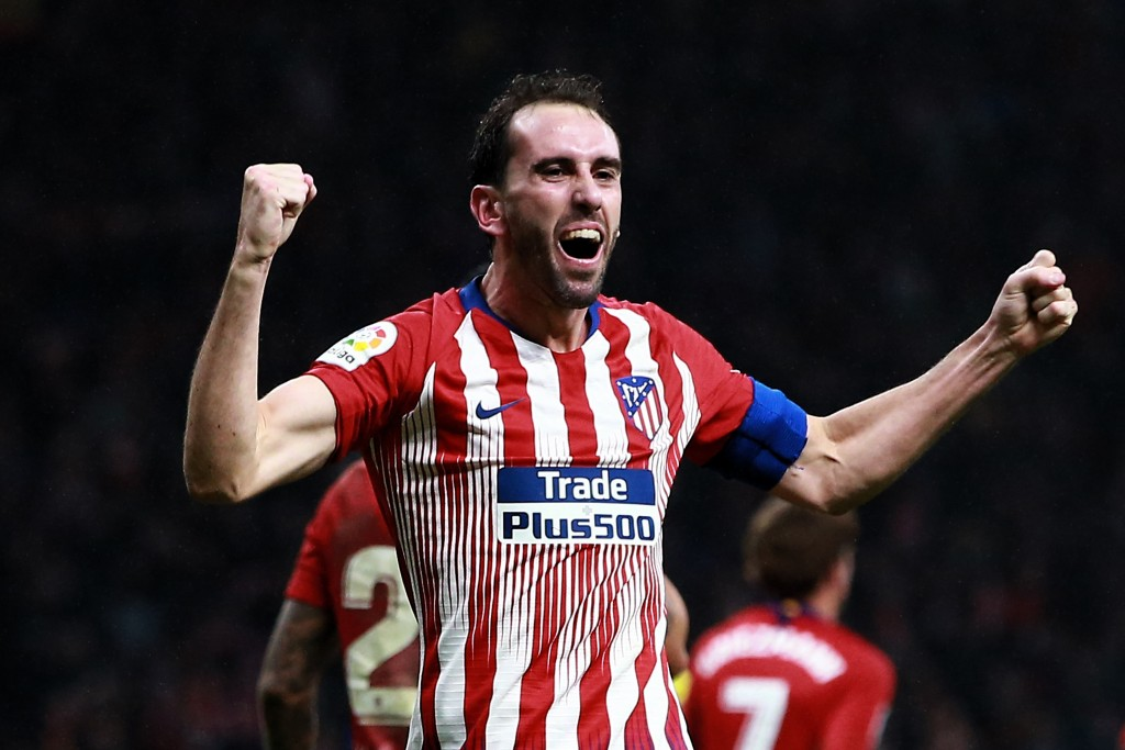 Could Godin be donning the red of Manchester United soon? (Photo by Gonzalo Arroyo Moreno/Getty Images)