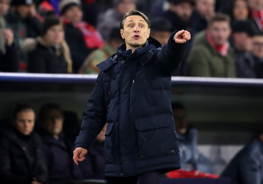MUNICH, GERMANY - NOVEMBER 27: Niko Kovac, Manager of Bayern Munich reacts during the UEFA Champions League Group E match between FC Bayern Muenchen and SL Benfica at Fussball Arena Muenchen on November 27, 2018 in Munich, Germany. (Photo by Alex Hassenstein/Getty Images)