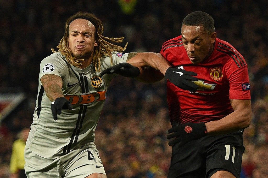 Not Martial's night (Photo: OLI SCARFF/AFP/Getty Images)
