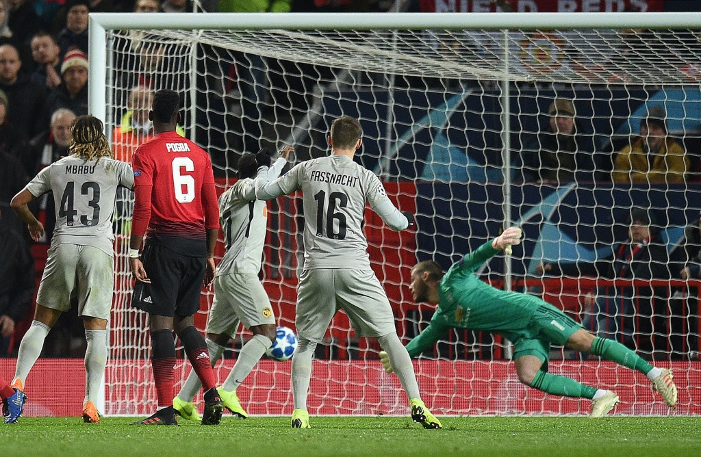 Superman De Gea comes to United's rescue again (Photo: OLI SCARFF/AFP/Getty Images)